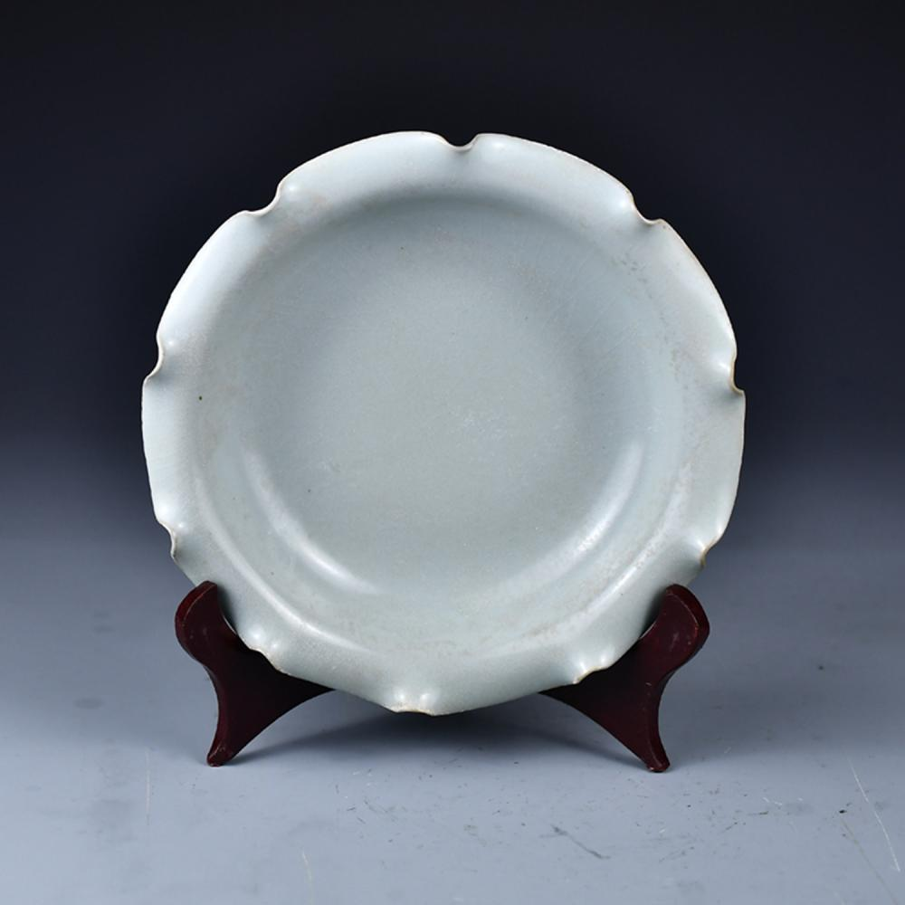 Chinese Song Dy Ru Kiln Porcelain Plate