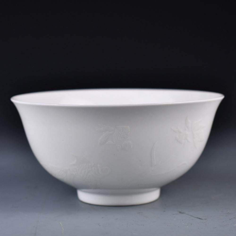 Superb Chinese White Glaze Porcelain Bowl