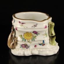 Superb Hand-painted Chinese Gilt Edges Famille Rose Porcelain Brush Washer