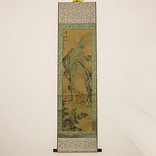 Beautiful Chinese Hand Scenery Figure Painting - Poet