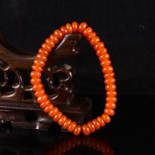 Beautiful Color Hand Carved Chinese Natural Nan Hong Agate Bracelet