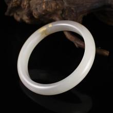 Inside Diameter 61mm Hand-carved Chinese Natural Hetian Jade Bracelet