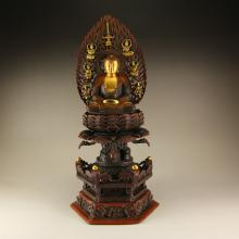 Chinese Ming Dynasty Gold-plated Red Copper Siddhartha Buddha Statue