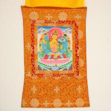 Chinese Tibet Temple Silk Tangka - Manjusri Bodhisattva