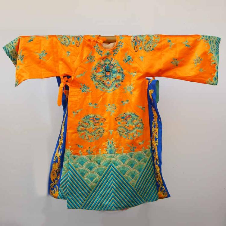 Chinese Emperor's Silk Cloth Dragon Robe