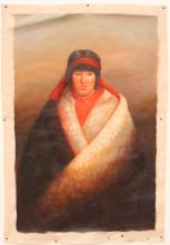 Oil Painting Chinese Tibet Contemporary Figure Art Chen Danqing 1953-