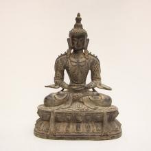 20Kg Chinese Ming Dynasty Tibet Buddhist Bronze Amitayus Buddha Statue