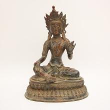 Chinese Ming Dynasty Tibet Buddhist Bronze Tara Statue
