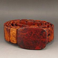 Beautiful Design Hand Carved Natural Hua Li Wood Belt