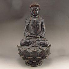 Chinese Tibet Bronze Statue Sakyamuni Buddha Statue