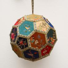 Chinese Suzhou Hand Silk Embroidery w Hydrangea
