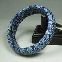 Old Handmade Inside Diameter 62mm Chinese Peking / Beijing Glass Bracelet