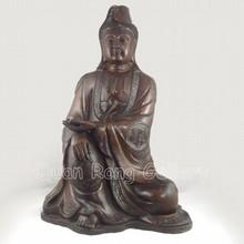 Big Chinese Bronze Statue - Kwan-yin w Qian Long Mark