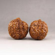 A Pair Chinese Art Walnuts Carved Monkeys