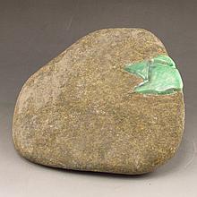 Superb Natural Jadeite Original Stone Statue / Gamble Stone Statue