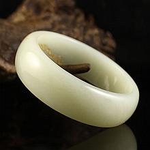 Internal Diameter 56mm Chinese Natural Hetian Jade Bracelet Carved Phoenix