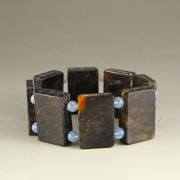 Chinese Buffalo Horn Beads Bracelet