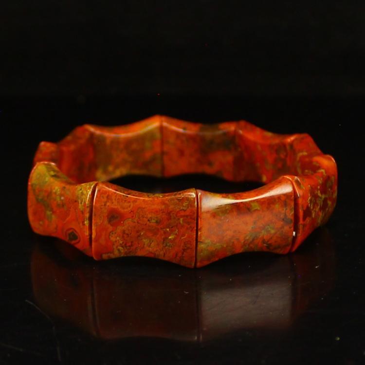 Chinese Zhanguo Hong Agate Bracelet