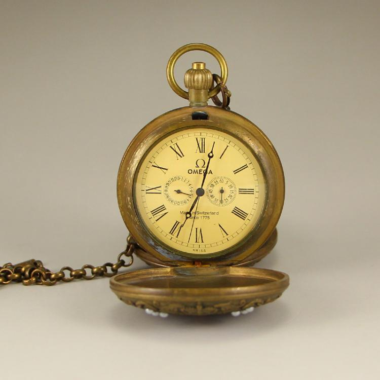 Vintage Brass Mechanical Pocket Watch