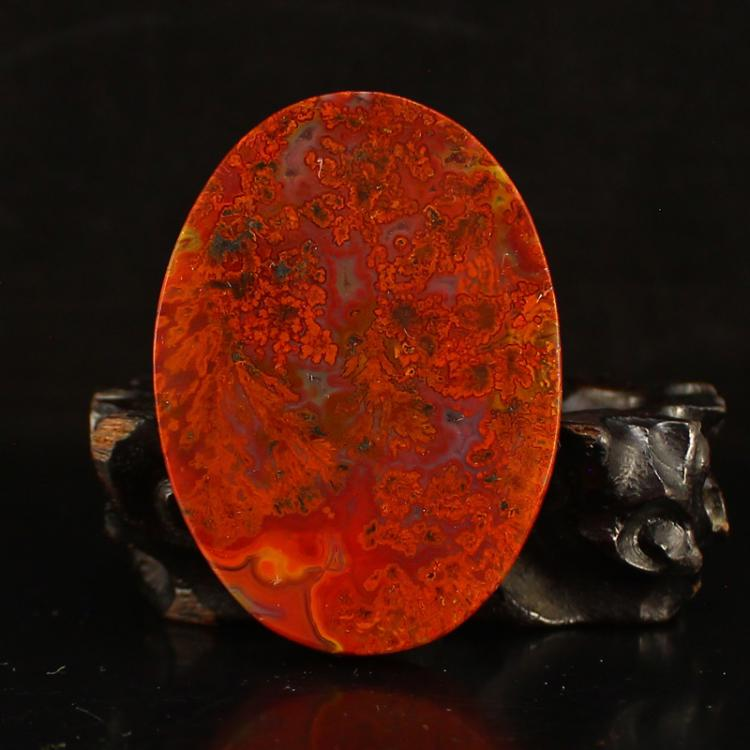 Chinese Zhan Guo Hong Agate Lucky Pendant