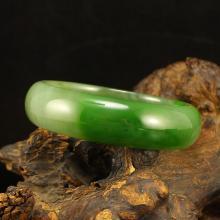 Inside Diameter 57mm Chinese Green Hetian Jade Bracelet