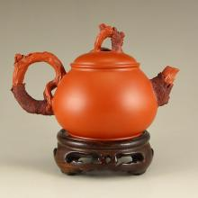 Chinese Yixing Zisha Clay Teapot w Artist Signed