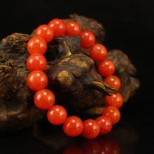 Chinese Natural Nanhong Agate Beads Bracelet