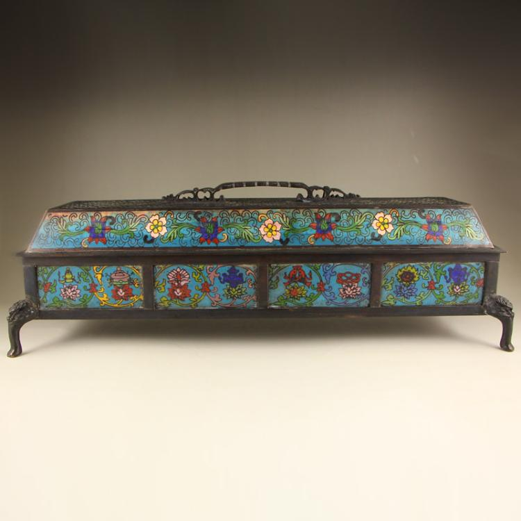 Vintage Chinese Bronze Cloisonne Incense Burner