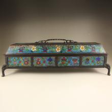 Vintage Chinese Bronze Cloisonne Incense Burner