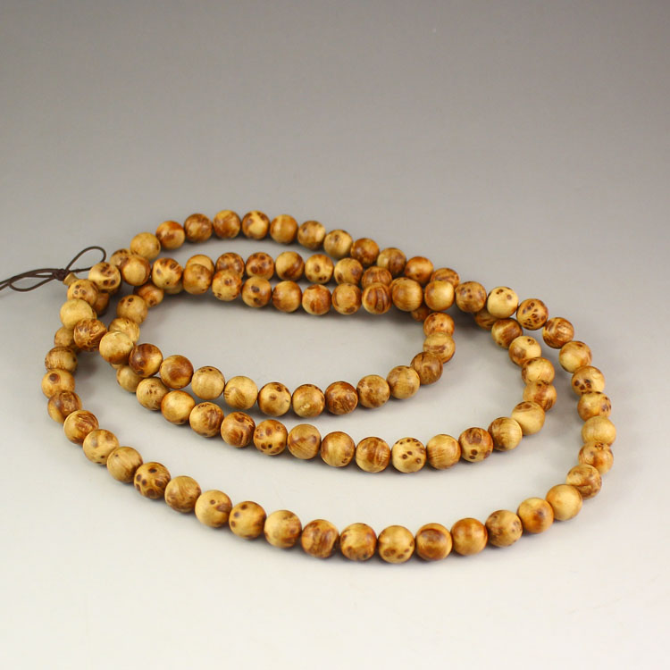 Chinese Thuja Sutchuenensis Wood Beads Bracelet