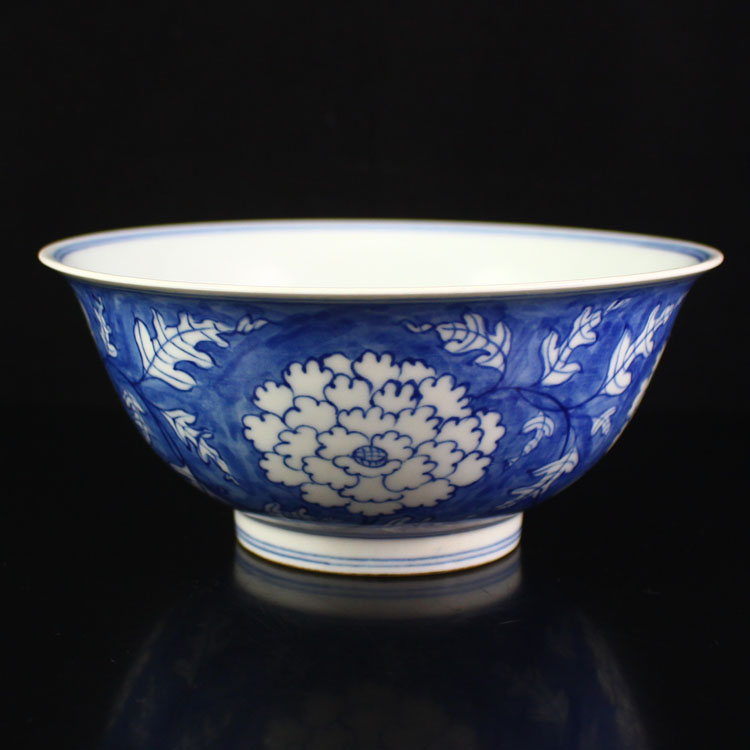 Chinese Blue And White Porcelain Bowl w Chenghua Mark