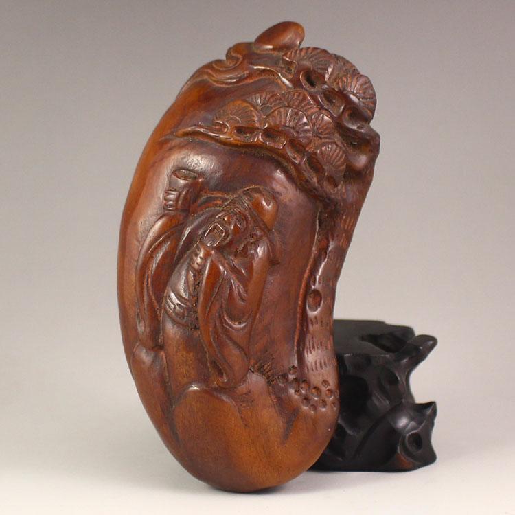Vintage Chinese Ox Horn Poet Libai Pendant