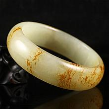 Superb Internal Diameter 62mm Chinese Natural Hetian Jade Bracelet