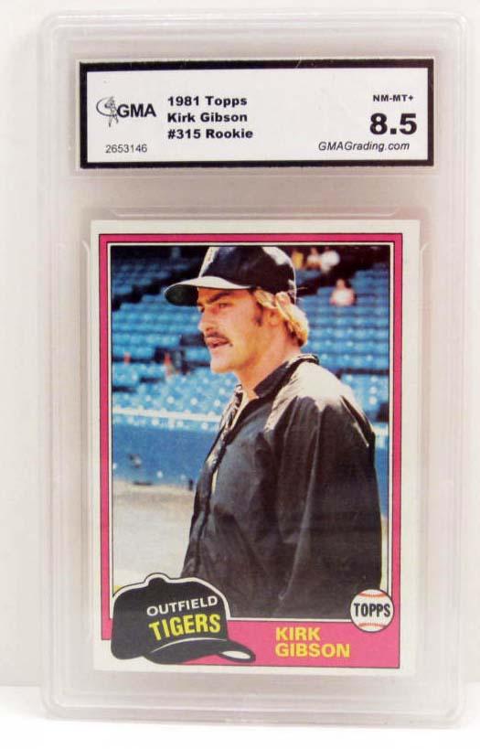 5647 1981 Topps Kirk Gibson 315 Rookie Baseball Card
