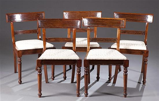 Set of Five Rosewood William IV Dining Chairs, Ca. 1830