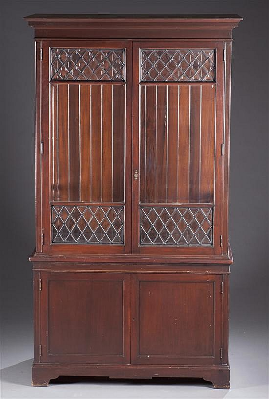 Modern Leaded Glass Bookcase