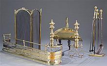 Six Piece Classical Brass Fireplace Set