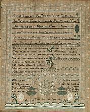 Ca 1820 Needlework Sampler