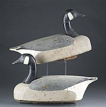 Two Carved Canada Goose Decoys