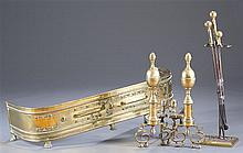 Neoclassical Brass Fireplace Accessories