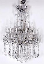 Two Tier Crystal Chandelier