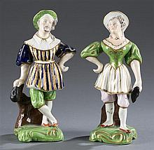 Pair of 19th Century Staffordshire Figurines