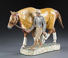 Wheeler Glazed Ceramic Horse Figurine