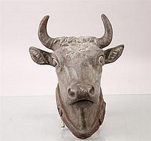 Zinc Bull Head Trade Store Sign