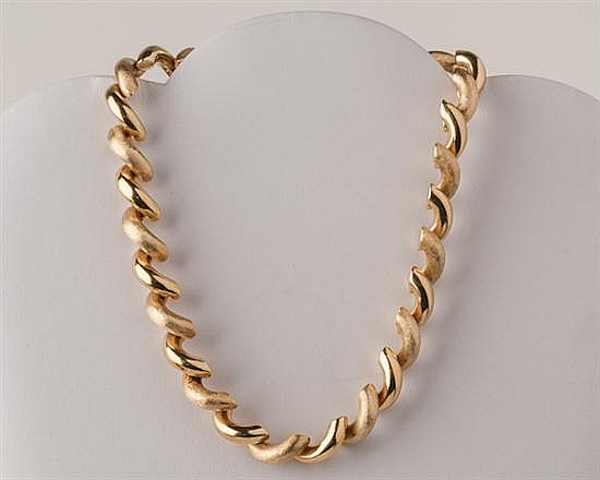 14K Yellow Gold San Marco Necklace, 49.6 grams,