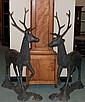 Pair of Bronze Deer
