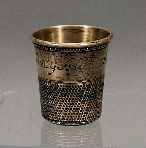 Thimble Form Silver Shot Glass