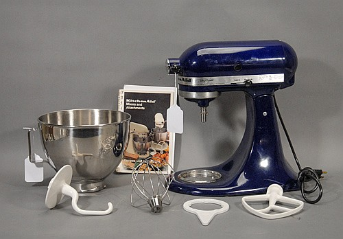 Kitchen Aid Mixer, Cobalt Blue, Model KSM 90,