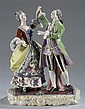 Two Handpainted Porcelain Figures Dancing Marked