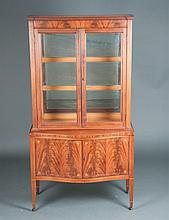 Hepplewhite Mahogany China Cabinet
